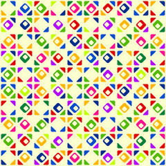 Seamless bright geometric pattern