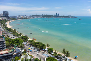 Beach of Pattaya,Thailand.