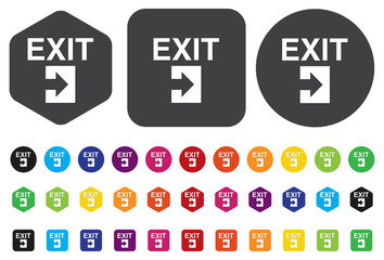 Exit icons.vector Exit icons. Vector