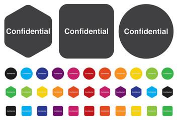 confidential top secret classified private information  button