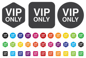 """button with the inscription """"vip""""."""