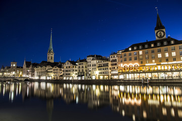 Zurich city in the night time