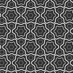 Seamless pattern lines with wavy, hexagon vector background