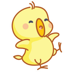 cute cartoon chicks posing