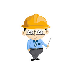 The character of engineer cartoon vector on white background