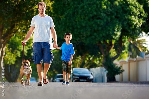 suburb dad dog