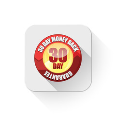 money back guarantee With long shadow over app button