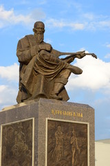 Monument to the great Kazakh poet and bard Kurmangazy