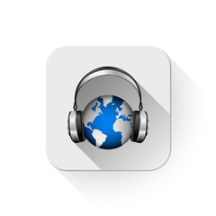 World music With long shadow over app button