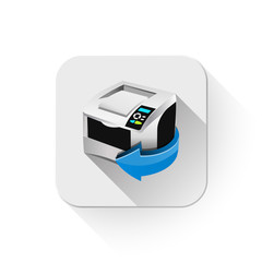 print icon With long shadow over app button