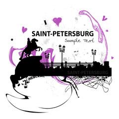 Sankt Petersburg Russland Stadt Skyline