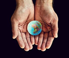 africa golf ball in hands