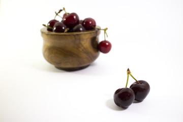 Ciotola piena di ciliegie