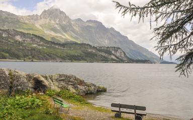 Maloja, Dorf, See, Wanderung, Sommer, Graubünden, Schweiz