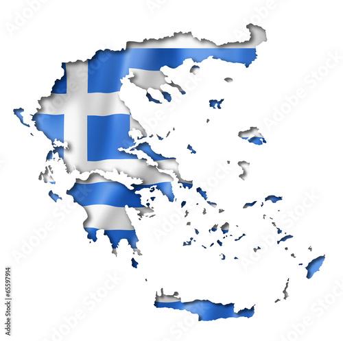 griechische-flagge-karte