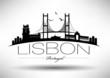 Lisbon City Typography Design - 65598101