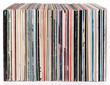 Leinwanddruck Bild - Row of vinyl records, isolated on white