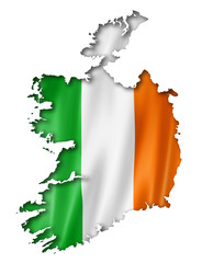 Irish flag map