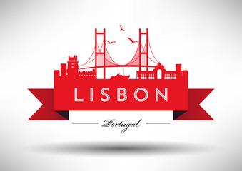 Lisbon City Typography Design