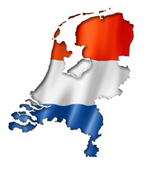 Netherlands flag map