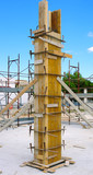 Carpentry structure Formwork for pillars ready concrete casting poster