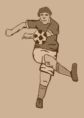 Soccer player vintage