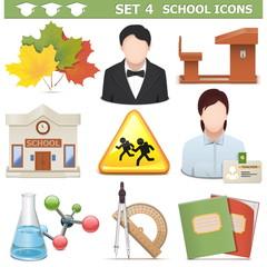 Vector School Icons Set 4