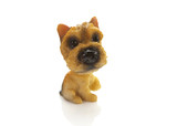 one small dog doll on white background