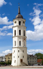 Vilnius Cathedral Belfry at a beautiful summer day