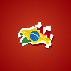 Ghana in Brazil 2014 vector