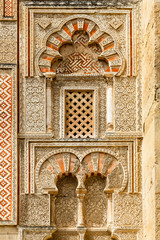 Ancient islamic building decoration with window