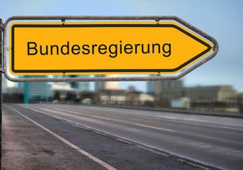 Strassenschild 14 - Bundesregierung