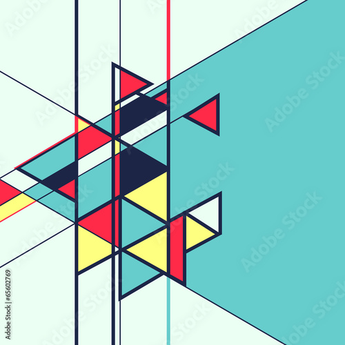Abstract geometric retro colourful vector background © JMC