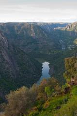 Arribes del Duero river. Panoramic view. Salamanca, Spain