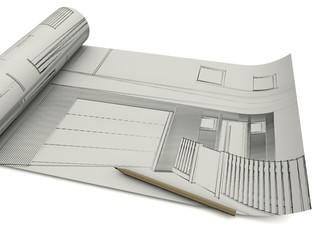 Architekt Entwurf