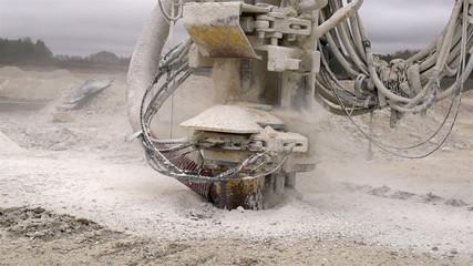 A rock drilling machine