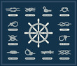 Nautical rope knots set - 65604392
