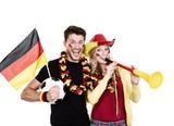 jubelnde Deutschlandfans