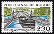 Leinwanddruck Bild - Postage stamp France 1990 Briare Aqueduct