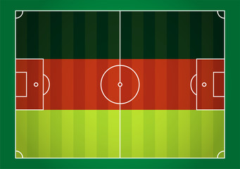 Fußballfeld Deutschland Vektor