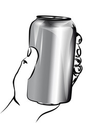 holding a can