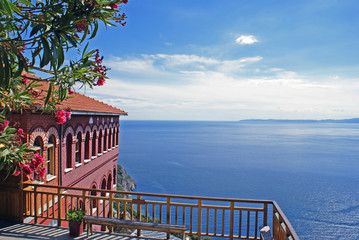 Agia Anna monastery guesthouses in Mount Athos