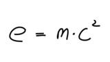 Formel Physik Relativitätstheorie Albert Einstein poster