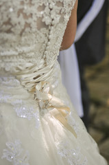 The wedding dress details