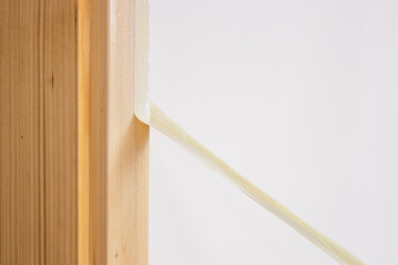 removing painter tape from the trim