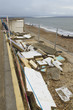 February 14 Storm Damage 2014, concrete beach huts damaged, Milf