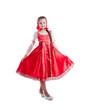 Cute little girl posing in Russian sundress