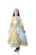 Majestic little girl posing in royal dress