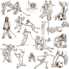 Sport - Collection of an Hand Drawn Illustrations