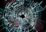broken window and prints